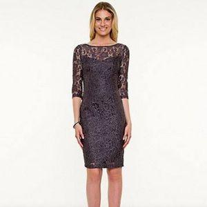 Le Chateau purple lace dress XS